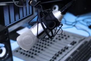 In radio studio