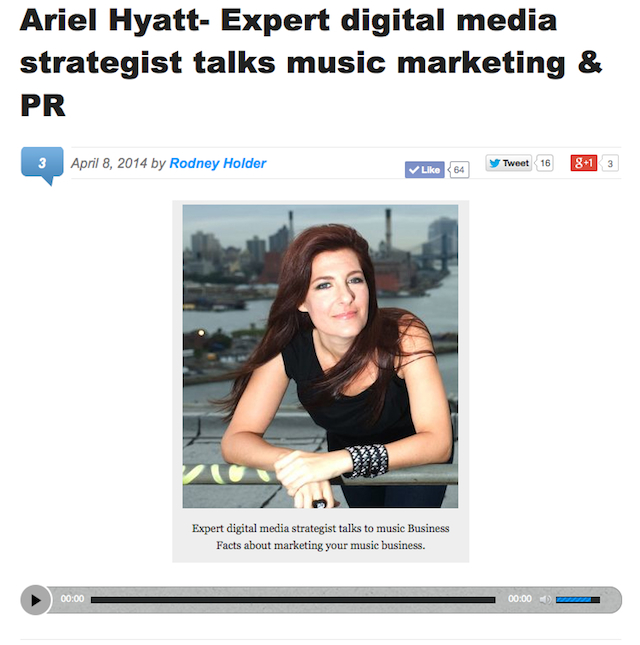 Ariel on Music Business Facts