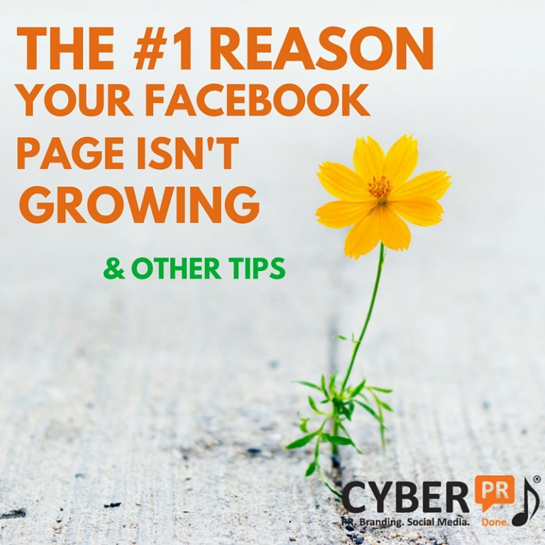 THE NUMBER ONE REASONYOUR FACEBOOK PAGEISN'T GROWING