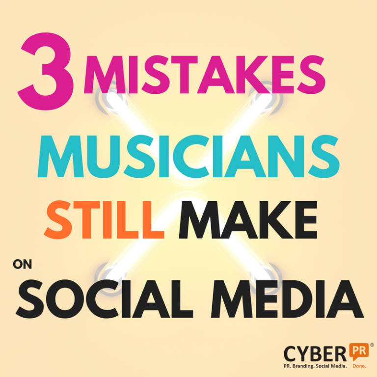 3 mistakes musicians still make on social media cyber pr music while social media is a critical component to any musicians overall marketing strategy it needs to be done effectively and efficiently fandeluxe Gallery