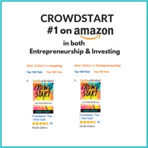 CROWDSTART hit #1 in both Entrepreneurship & Investing