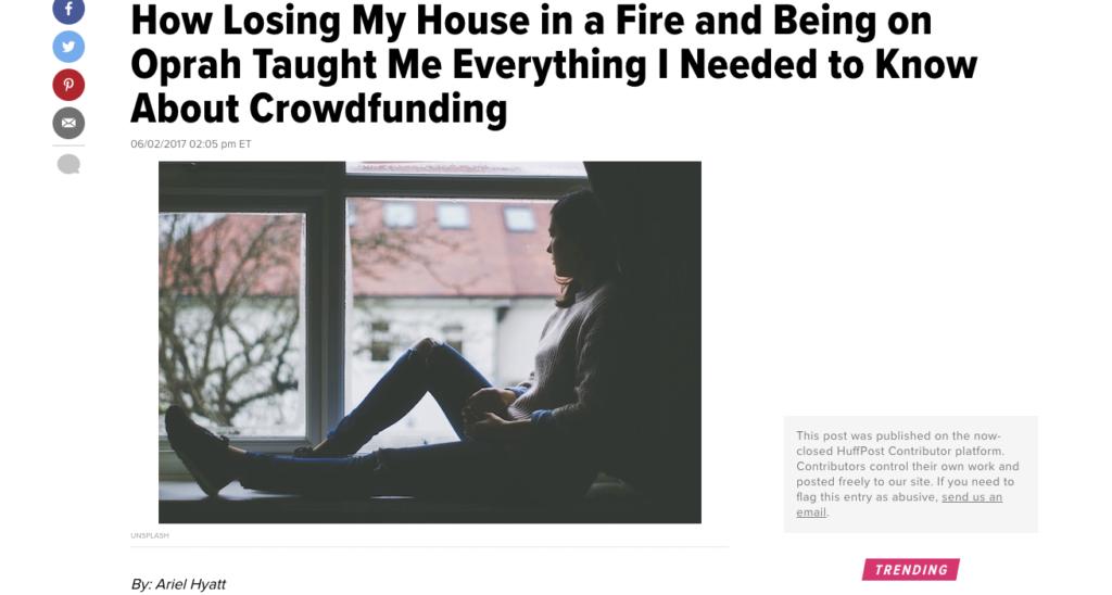 Huffington Post Ariel Hyatt Oprah CROWDSTART