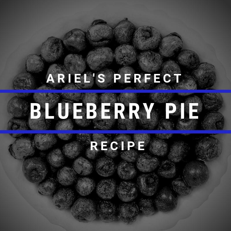 It's #NationalPieDay Ariel's Perfect Blueberry Pie Recipe