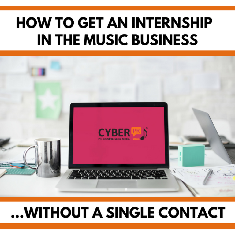 Get an internship in the music business