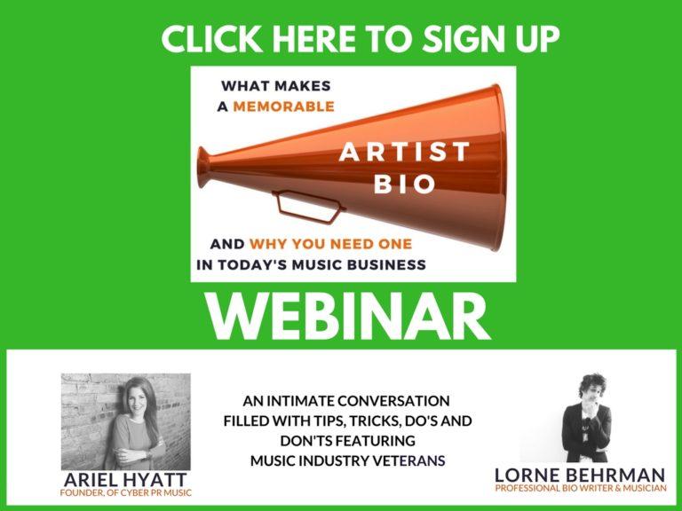 artist bio webinar