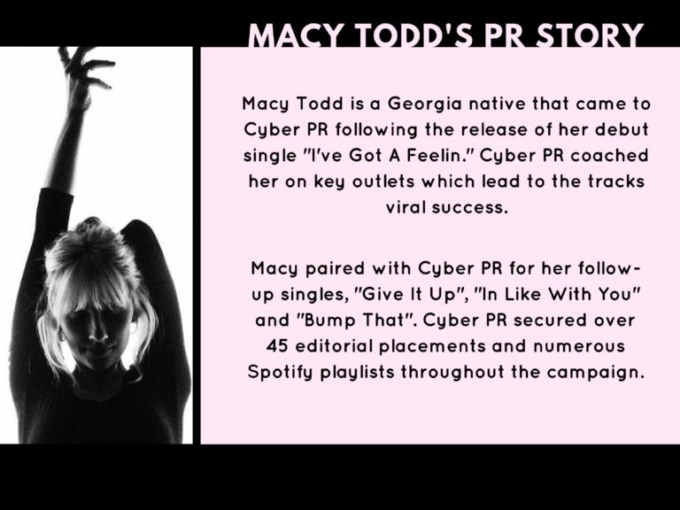 Macy Todd - Music PR Case Study