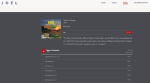 Musician's Website - Music Player Design Example