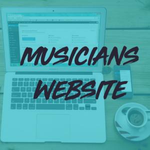 musician's website