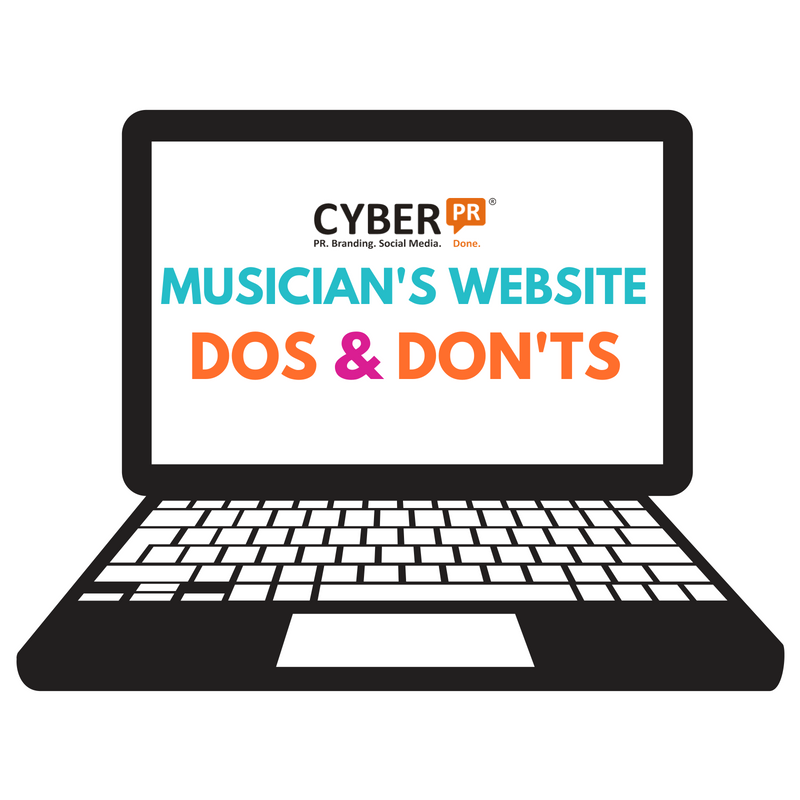musician's website dos and don'ts cyber pr