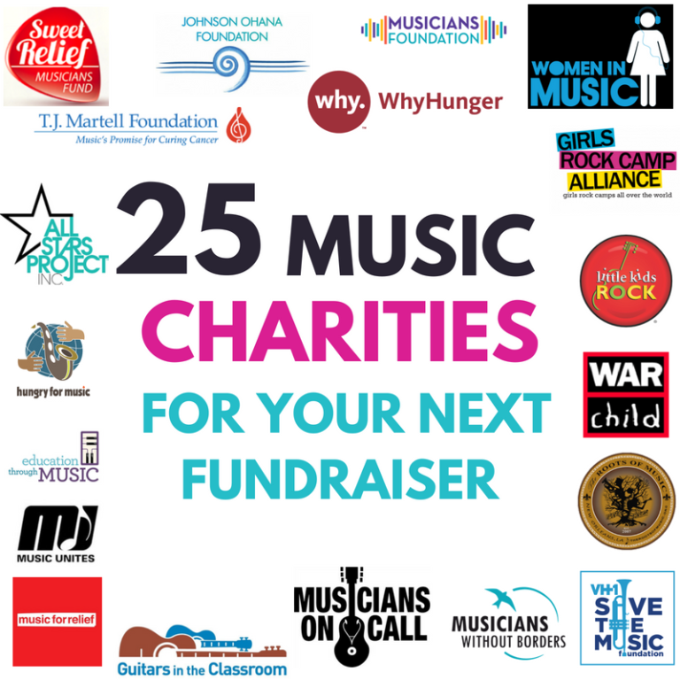 Cyber PR 25 Music Charities to consider for your next benefit