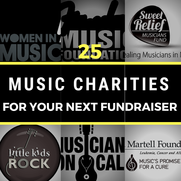 25 Music Based Charities for Your Next Fundraiser