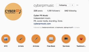 CYBER PR MUSIC INSTAGRAM MOMENTS