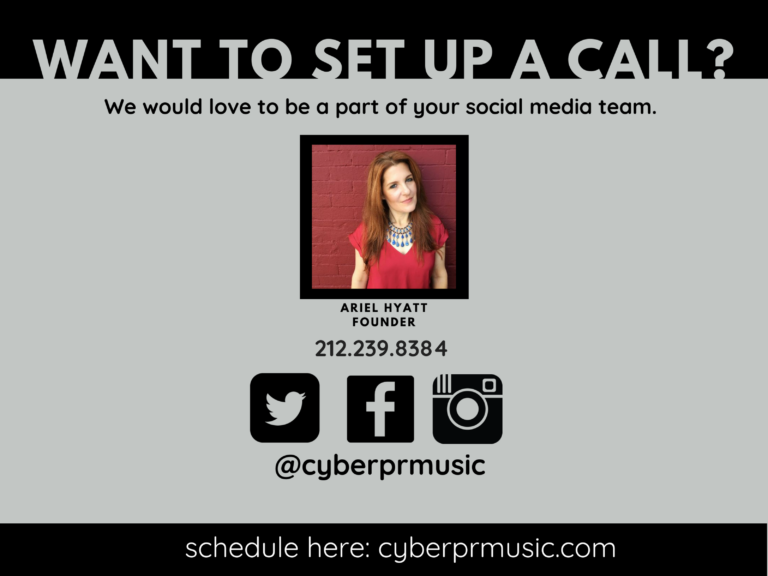 Cyber PR Music Case Study Social Media Management contact Cyber PR