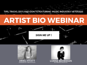 Artist Bio Webinar - Everything You Need to Know in 29 Minutes