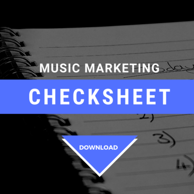 Cyber PR Music Marketing Checksheet