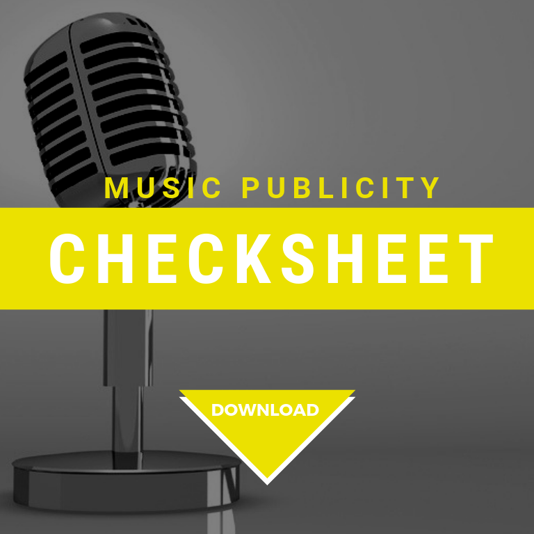 music publicity checksheet