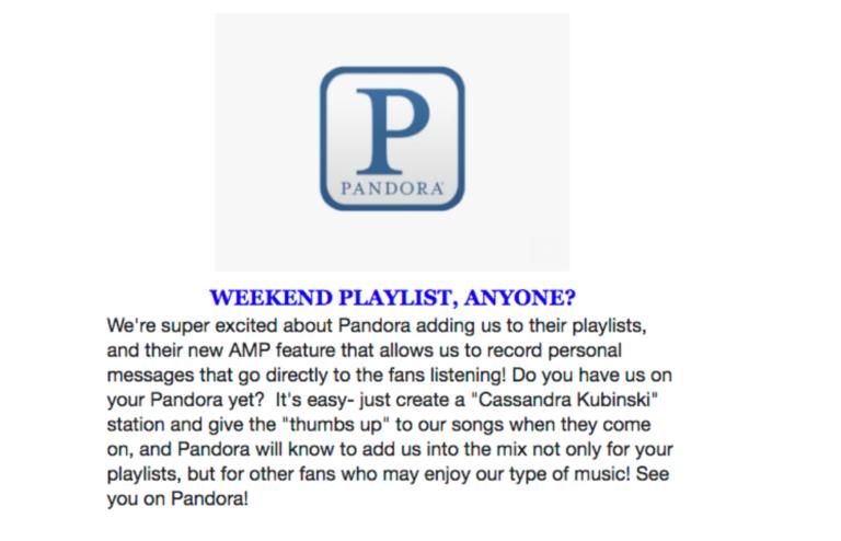 Cassandra Kubinski Pandora