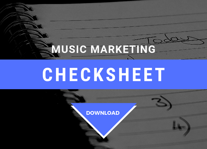 music marketing checksheet