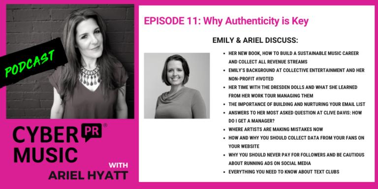 Emily White Cyber PR Music Podcast Ariel Hyatt