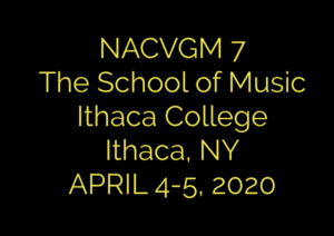 The North American Conference for Video Game Music Cyber PR 2020