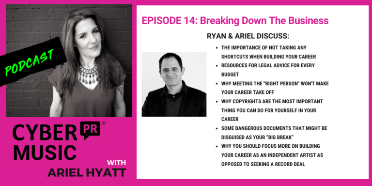 Ryan Kairalla The Cyber PR Music Podcast Ariel Hyatt