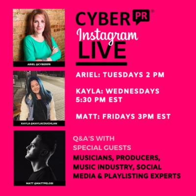 Instagram Live: Tuesdays Wednesdays & Fridays