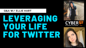 leveraging your life for twitter cyber pr instagram live