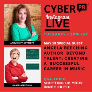 Angela Beeching Cyber PR Instagram Live Cyber PR