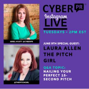 Laura Allen Pitch Girl Cyber PR Instagram Live