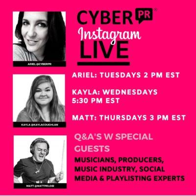 Instagram Live: Tuesdays Wednesdays & Thursdays