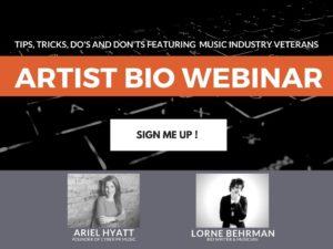 Artist Bio: Webinar Registration