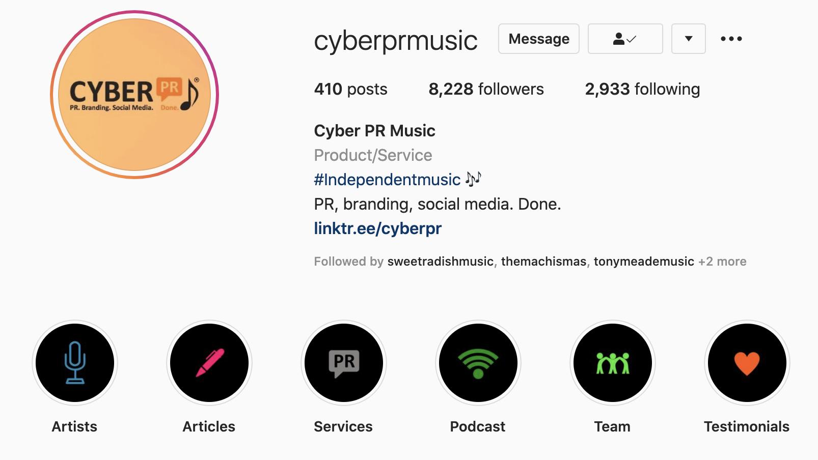 cyber pr music