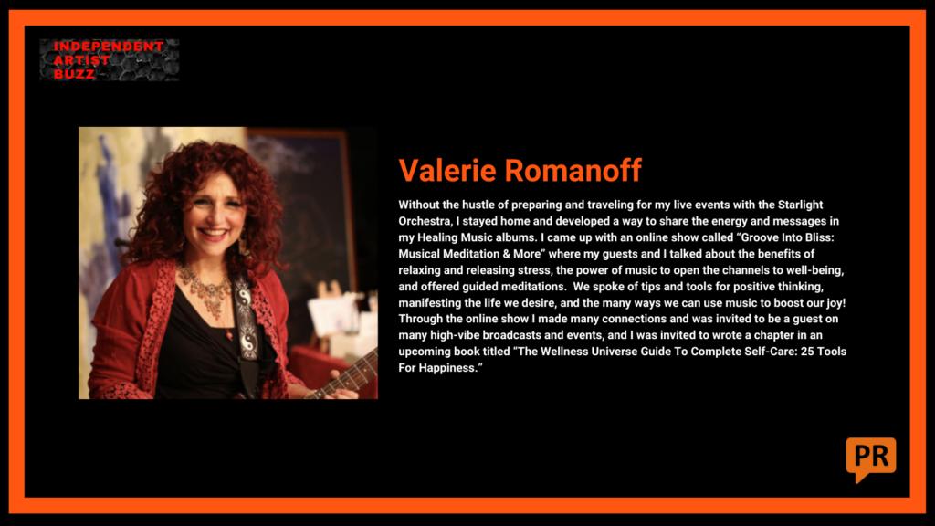 valerie romanoff Independent Artist Buzz Spotify Playlist