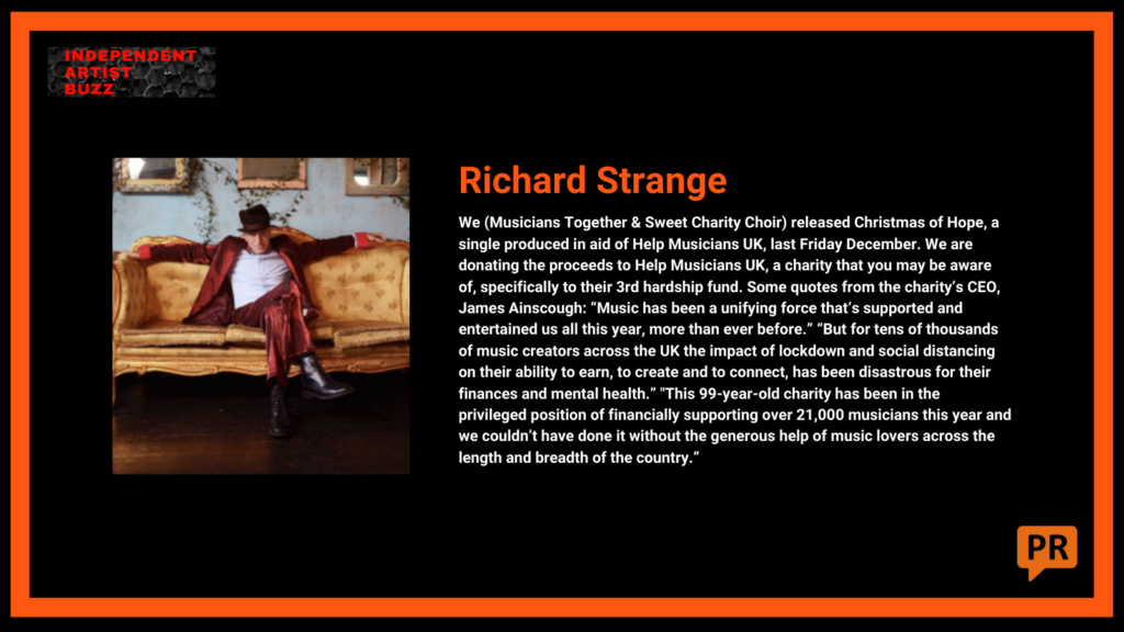 richard strange Independent Artist Buzz Spotify Playlist