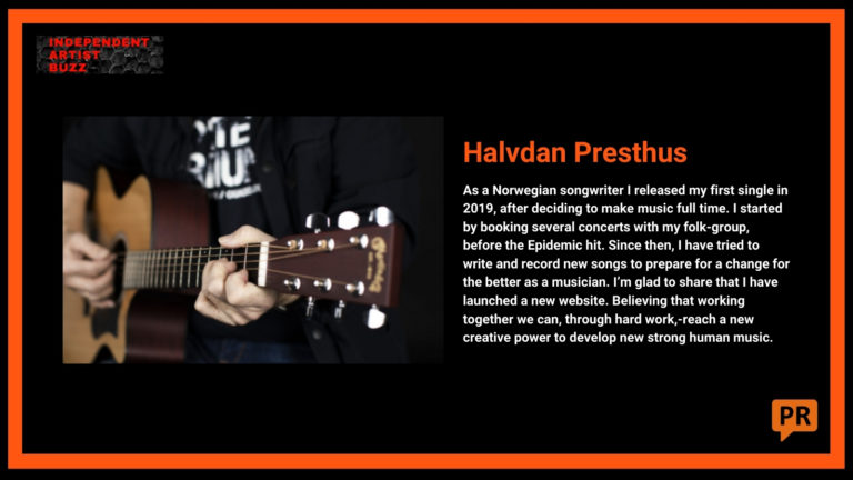 Halvdan Presthus Independent Artist Buzz Spotify Playlist