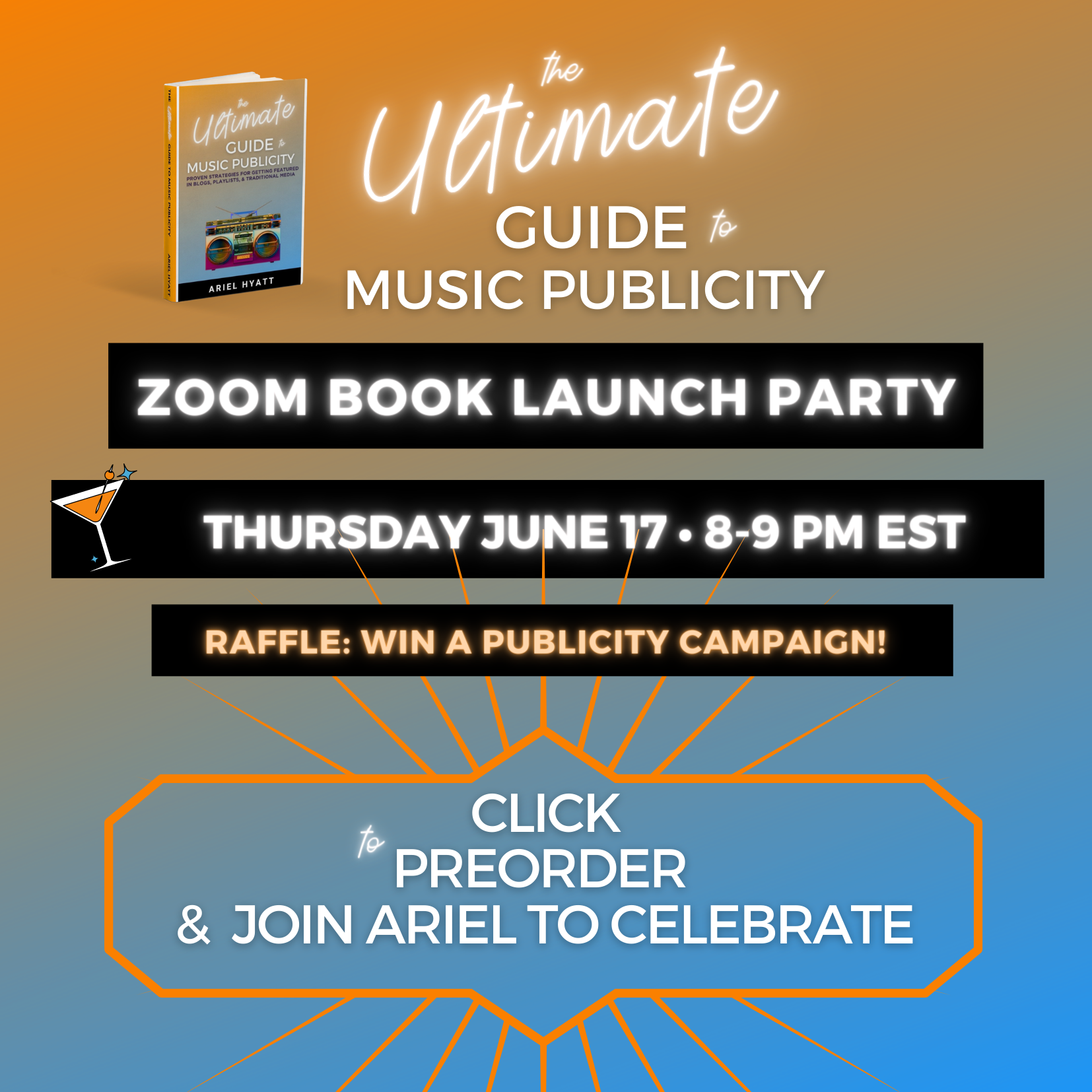 ULTIMATE GUIDE TO MUSIC PUBLICITY BOOK LAUNCH PARTY