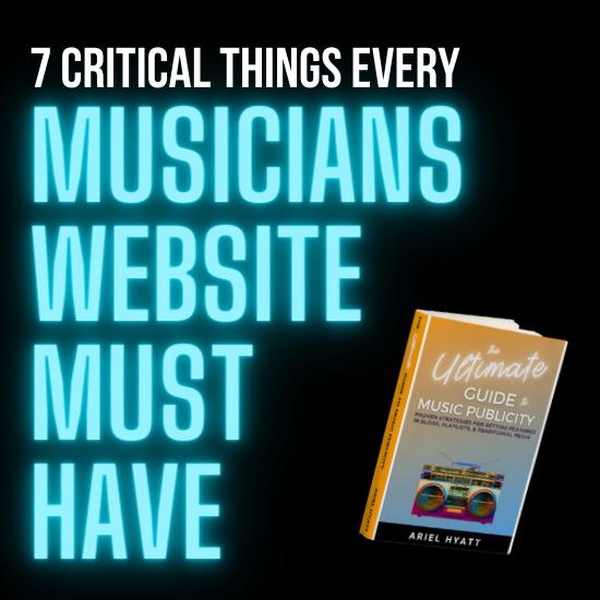 musicians website