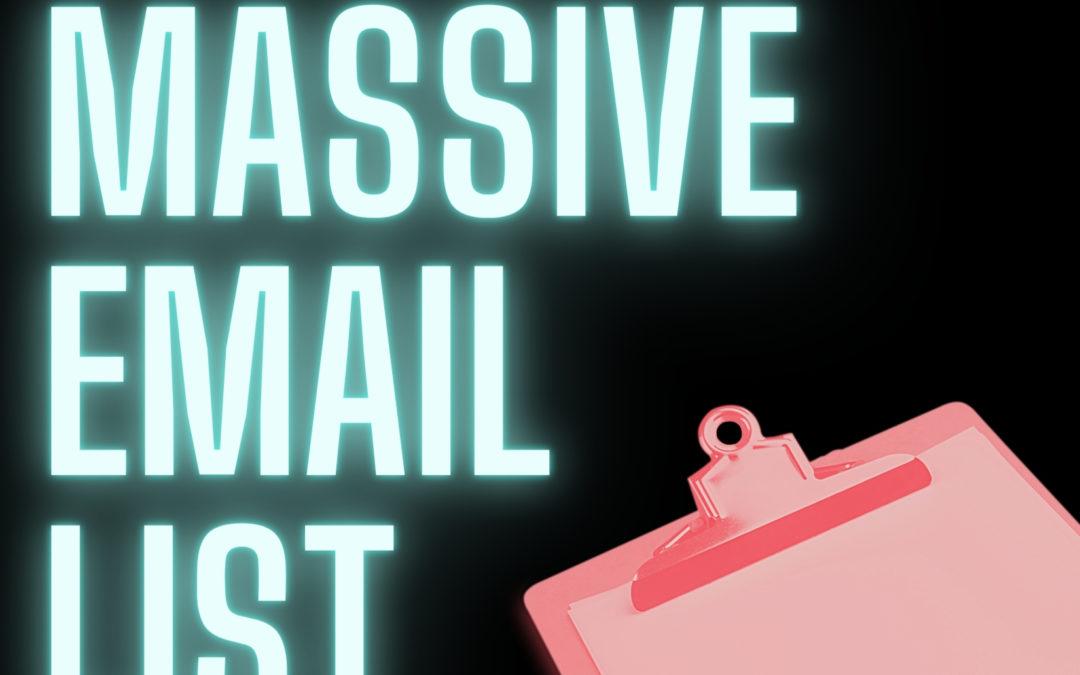 Musician's massive email list
