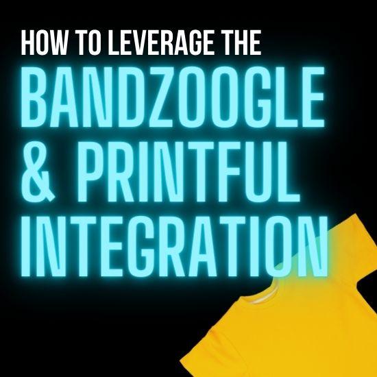 Bandzoogle Printful Music website
