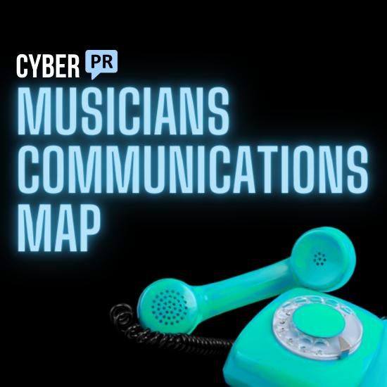 musicians communications map